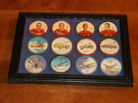 Framed --Old Milk Bottle Caps-