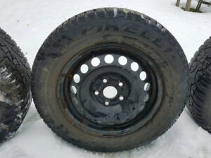 "15"" steel VW rims with Pirelli winter tires"