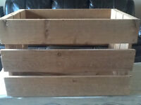 Solid Wooden crate/box