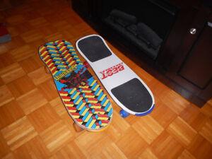 2 Planches a Roulettes Skateboard Année 90 A Voir