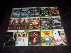 Microsoft XBOX360 Console and Games for Sale