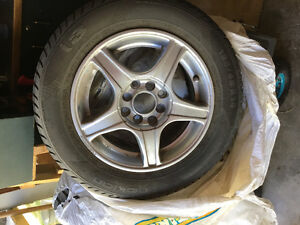 Aluminum wheels with summer tires