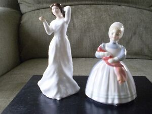 "Royal Doulton Figurines -""With Love"" HN3393 & ""Rag Doll"" HN2142 Kitchener / Waterloo Kitchener Area image 1"