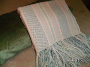 Handwoven 100% Virgin Wool Afghan - Soft and warm to the touch