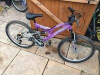 Childs Full Suspension Mountain, Serviced, Can deliver.