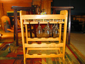 Solid Maple Wine Rack Hand Made