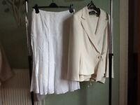 Ladies Wallis Linen Suit and M&S Linen Skirt