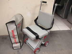 Airplane Aisle in flight wheelchair w/carrying bag, exc.shape