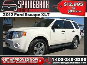 2012 Ford Escape XLT 4X4 w/Leather, Sunroof $89B/W INSTANT APPRO