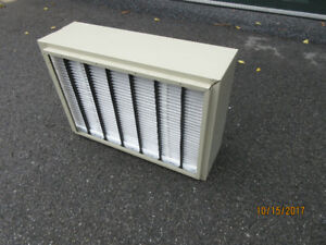 Furnace air cleaner, high efficiency, extra filters