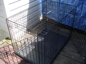 New Large Wire Pet Cage W/ Divider