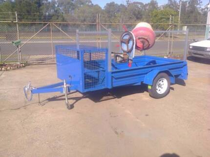 8X5 HEAVY DUTY BOX TRAILER, HIGH SIDE, LANDSCAPING,BUILDER,TRADIE
