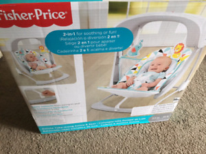 BRAND NEW - Fisher price take along swing and seat