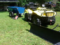 400 SUZUKI EIGER, TRAILER, PLOW COMBO PACKAGE