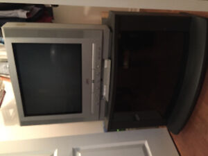 "21"" JVC TV and stand"