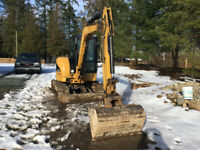 60 mini excavator and operator for hire