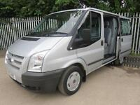 FORD TRANSIT 260 TREND DOUBLECAB SWB 125 BHP AIR CON 6 SEATS