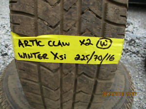 Pair of Artic Claw Winter Xsi 225/70/16 winter tires for sale