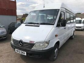 MERCEDES BENZ SPRINTER 413 CDI + LWB TWIN WHEELS + HIGH ROOF MINIBUS