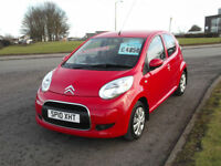 Citroen C1 1.0i VTR+ 2010 5 Door,Red,Half Leather,Full Service History