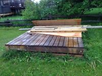 8x8 treated floating dock