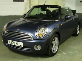 June 2009 '09' MINI 1.6 120 BHP COOPER CONVERTIBLE CHILLI & VISIBILITY Htd.LEATH