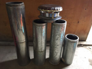 """8"""" wood stove chimney sections c/w cap"""