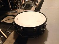 Black Mapex maple snare drums