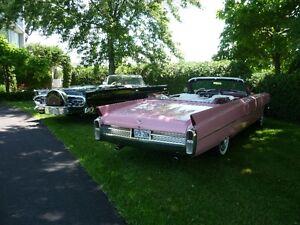 Cadillac convertible 1963 rose
