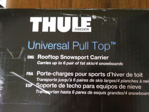 Rack à ski thule universal pull top rooftop  carrier #92726