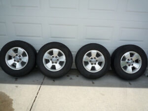 Toyota, Tacoma or 4-Runner wheels and tires.