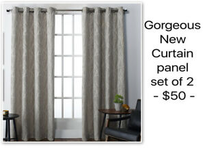Reduced! Pair of New Curtain Panels