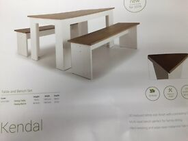 Kendal Table and Bench Set