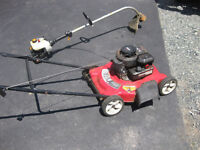 Lawn mower and wipper snipper