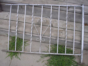 Two Vintage Wrought Iron Railings Silver in colour. Heart design Kitchener / Waterloo Kitchener Area image 3