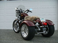 Two Harley's in one. Trike and 883 Sportster