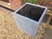 Jumbo Grey polystone cube