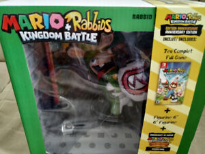 New Sealed Mario & Rabbids Game+DLC+Yoshi Figurine