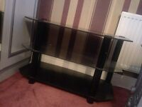 ****BLACK GLASS TV STAND *** good condition ONLY £20