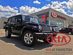 2017 Jeep Wrangler X Unlimited SAHARA   LEATHER   HTD SEATS   4W