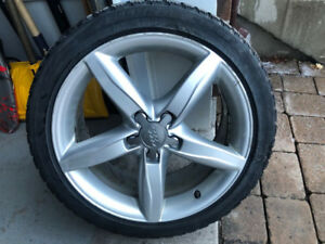 "Audi A4 OEM 18"" Mags with 245/40/18 Winter Tires"