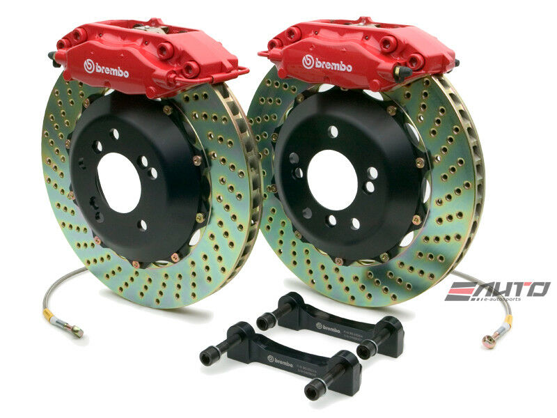 BREMBO Rear GT Big Brake kit 4pot Caliper Red 345x28 Drill Disc G500 G55 W463