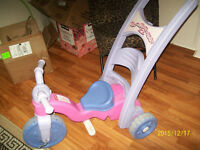 push bike for girl- remove handle-child  drives  herself