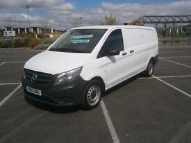2015 MERCEDES-BENZ VITO 2.1CDI EXTRA LONG 114 BLUE TEC XLWB PANEL VAN IN WHITE