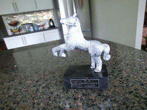EAST INDIAN SILVER COLOURED HORSE STATUE
