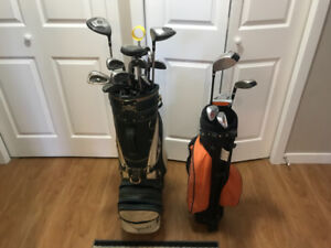 Golf clubs R/H with bag and balls