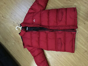 Red warm gently used jacket