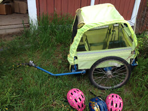 Bike trailer for two