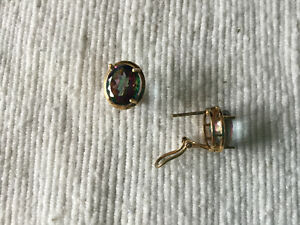 Rainbow Topaz Gold Plate Earrings and Pendant West Island Greater Montréal image 2