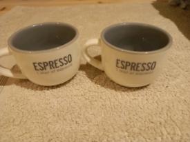 2 x Expresso mugs.